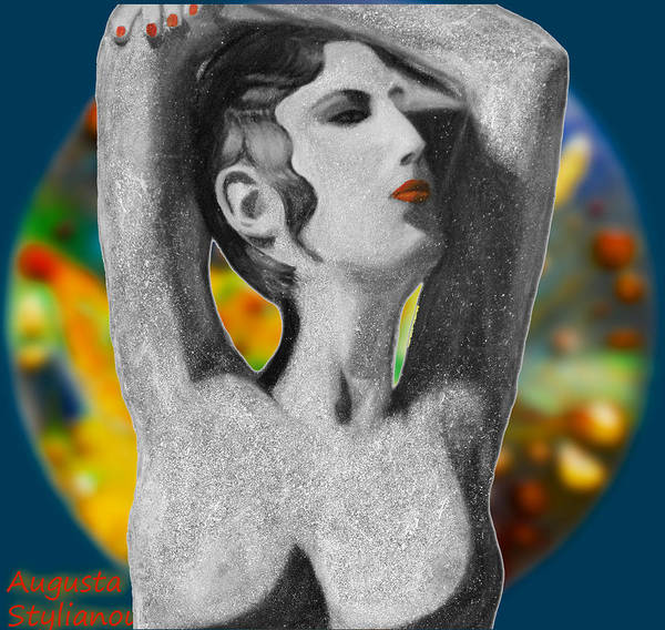 Digital Art - Aphrodite And  Cyprus Map by Augusta Stylianou