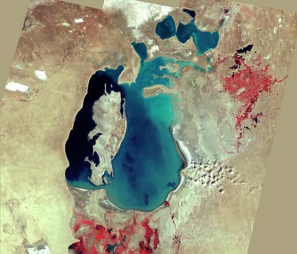 Wall Art - Photograph - Aral Sea by Nasa/science Photo Library