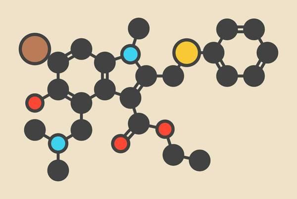 Arbidol Influenza Drug Molecule Art Print