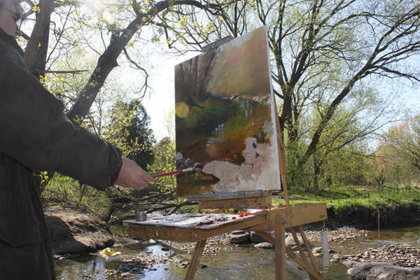 Outdoor Photograph - Artist At Work by Ylli Haruni