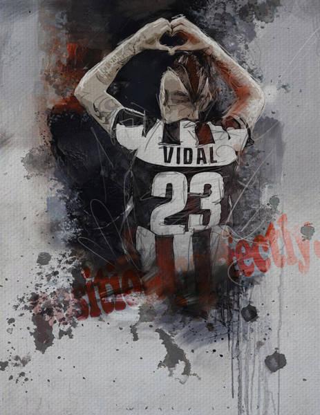Italian Football Wall Art - Painting - Arturo Vidal  by Corporate Art Task Force