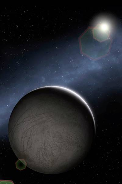 Wall Art - Photograph - Artwork Of Jovian Moon Europa by Mark Garlick/science Photo Library