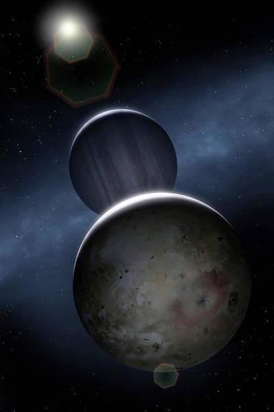 Wall Art - Photograph - Artwork Of Jovian Moon Io by Mark Garlick/science Photo Library
