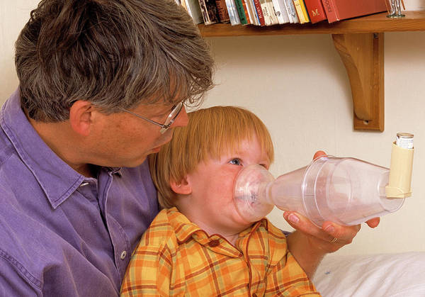 Wall Art - Photograph - Asthma Treatment by Mark Thomas/science Photo Library