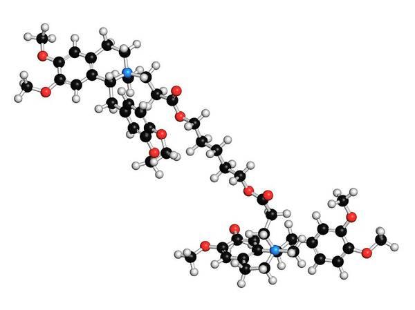Skeletal Muscle Photograph - Atracurium Skeletal Muscle Relaxant Drug by Molekuul