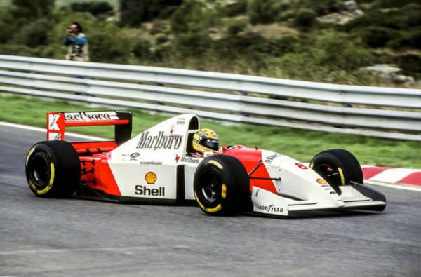 Racing Shell Photograph - Ayrton Senna by Jose Bispo