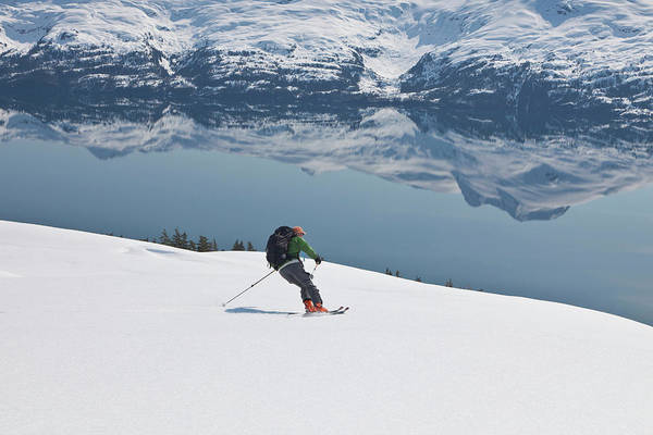 Backcountry Wall Art - Photograph - Backcountry Skiing In Prince William by Hugh Rose