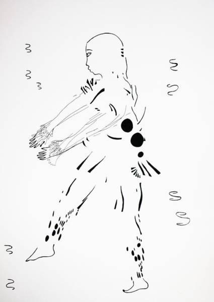 Drawing - Bakiga Dance - Uganda by Gloria Ssali