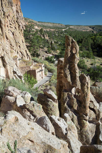 Anasazi Wall Art - Photograph - Bandelier National Monument by Jim West