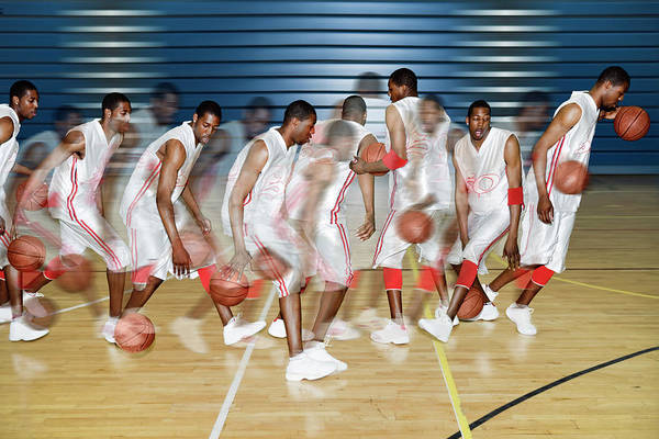 Eye Ball Photograph - Basketballer Dribbling by Gustoimages/science Photo Library