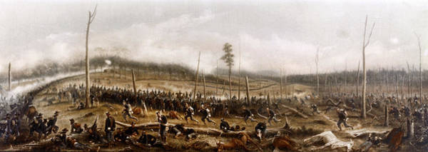 Painting - Battle Of Chickamauga, 1863 by James Walker