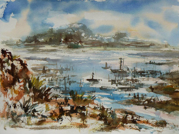Painting - Bay Scene by Xueling Zou