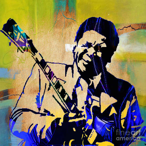 Wall Art - Mixed Media - Bb King Collection by Marvin Blaine