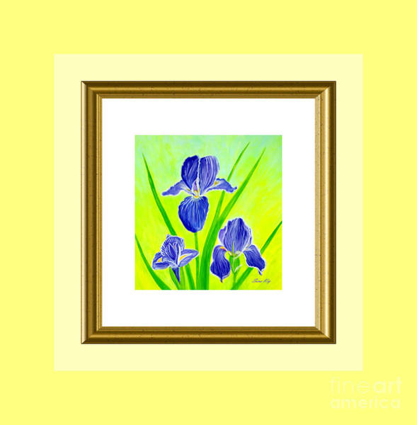 Painting - Charming. Beautiful Iris Flowers by Oksana Semenchenko