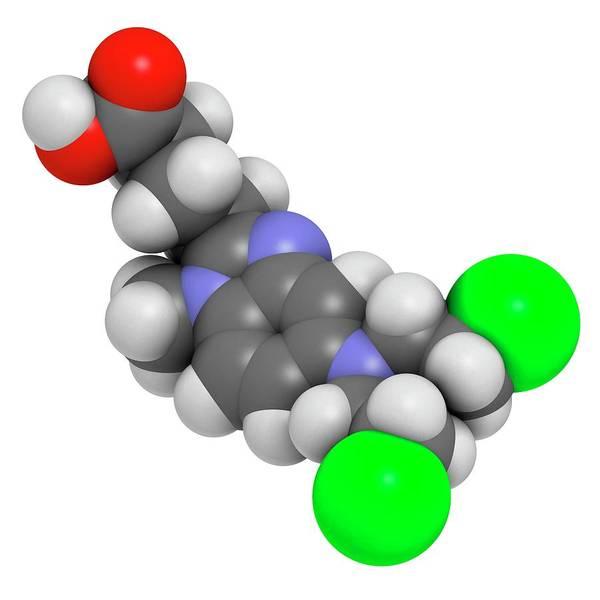 Chronic Wall Art - Photograph - Bendamustine Chemotherapy Drug Molecule by Molekuul