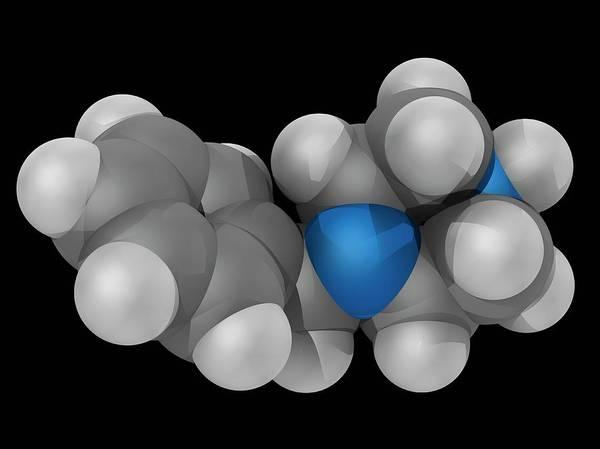 Wall Art - Photograph - Benzylpiperazine Drug Molecule by Laguna Design/science Photo Library