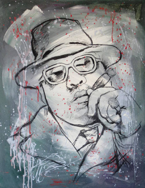 B B King Wall Art - Painting - Biggie Smalls Art Painting Poster by Kim Wang