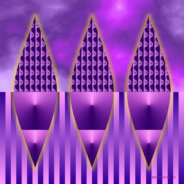 Digital Art - 3 Blades 2 by Walter Neal