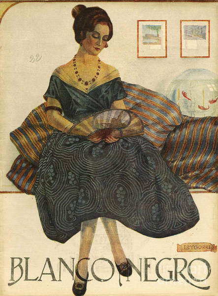 Magazine Wall Art - Drawing - Blanco Y Negro  1923  1920s Spain Cc by The Advertising Archives