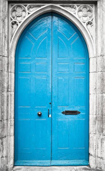 Door Photograph - Blue Door by Tom Gowanlock