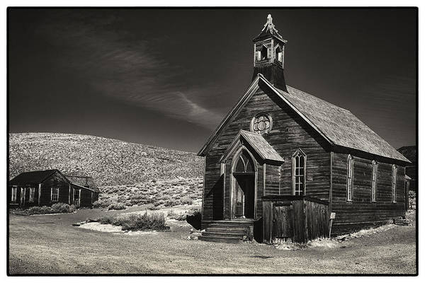 Bodie Ghost Town Wall Art - Photograph - Bodie Church by Robert Fawcett