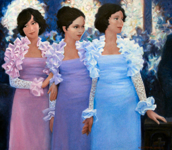 Bridesmaids Painting - Brides Maids by Kevin Lawrence Leveque