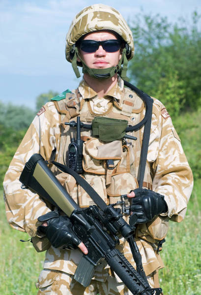 Wall Art - Photograph - British Royal Commando In Desert by Oleg Zabielin