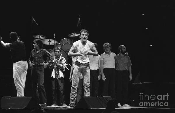 Folk Singer Photograph - Bruce Springsteen And The E Street Band by Concert Photos