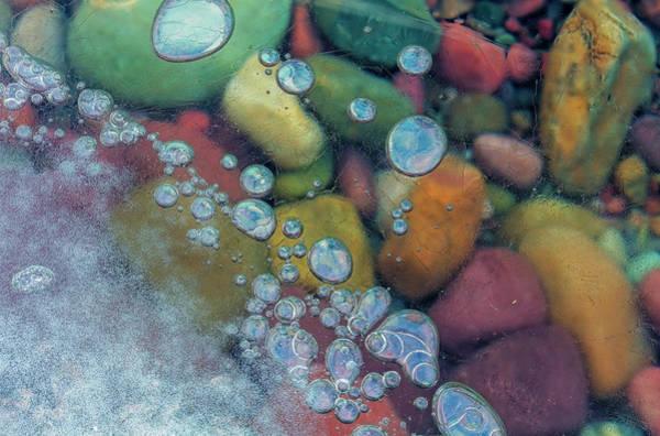 Wall Art - Photograph - Bubbles In Ice, Lake Mcdonald, Glacier by Chuck Haney