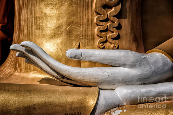 Thai Wall Art - Photograph - Buddha Hand by Adrian Evans