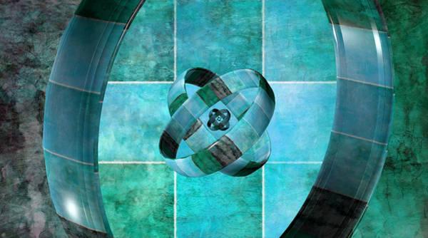 Digital Art - 3 By 3 Ocean Rings by Angelina Tamez