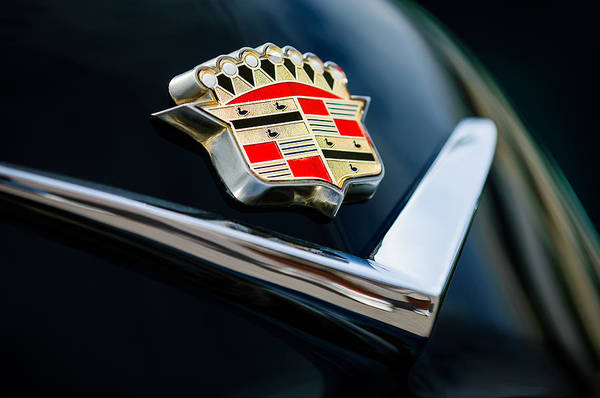 Collector Car Photograph - Cadillac Emblem by Jill Reger