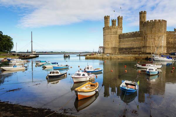 Fortified Wall Art - Photograph - Caernarfon, Wales, Uk. The Castle by Ken Welsh