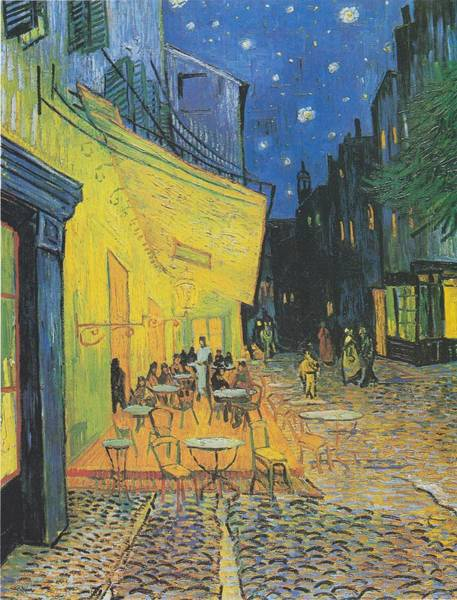 Painting - Cafe Terrace At Night by Celestial Images
