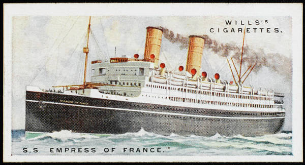 1924 Drawing - Canadian Pacific Liner,  Sailing by Mary Evans Picture Library