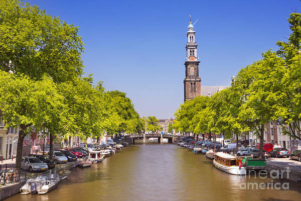 Prinsengracht Photograph - Canal In Amsterdam by Sara Winter