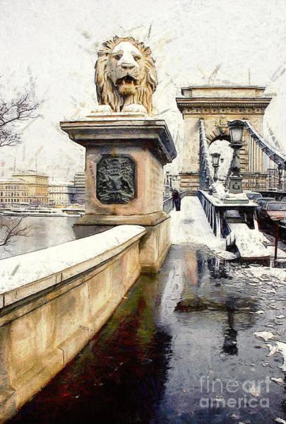 Chain Bridge In Budapest Art Print
