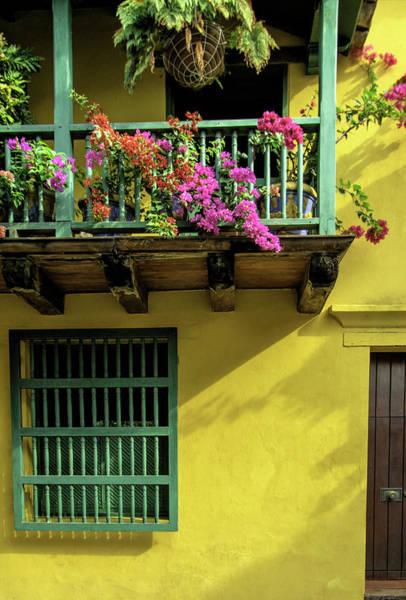 Cartagena Photograph - Charming Spanish Colonial Architecture by Jerry Ginsberg