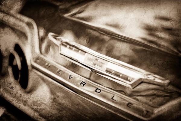 Impala Photograph - Chevrolet Impala Ss Emblem by Jill Reger