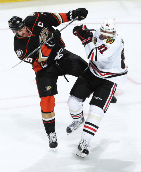 Nhl Photograph - Chicago Blackhawks V Anaheim Ducks - by Debora Robinson