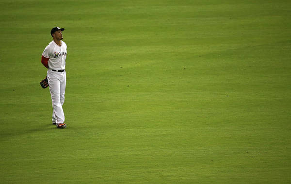 Giancarlo Stanton Photograph - Chicago Cubs V Miami Marlins by Mike Ehrmann