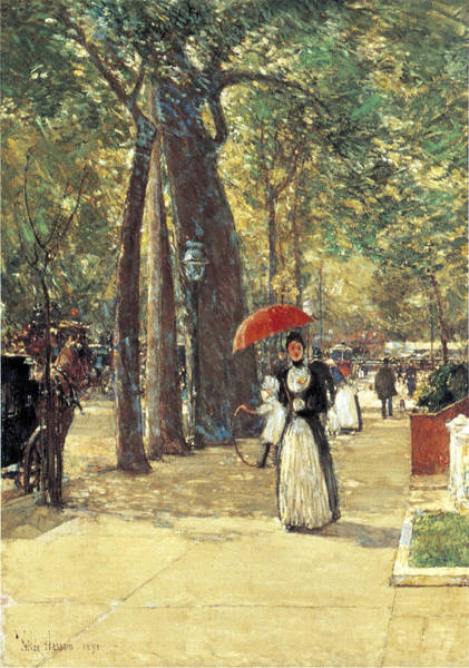 Photograph - Fifth Avenue At Washington Square by Childe Hassam