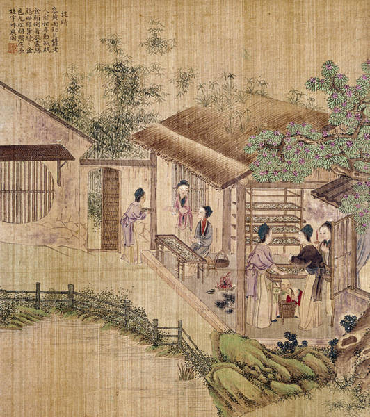 Wall Art - Painting - China Silk Production by Granger