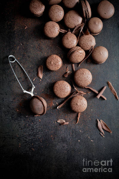 Wall Art - Photograph - Chocolate Macaroons by Kati Finell