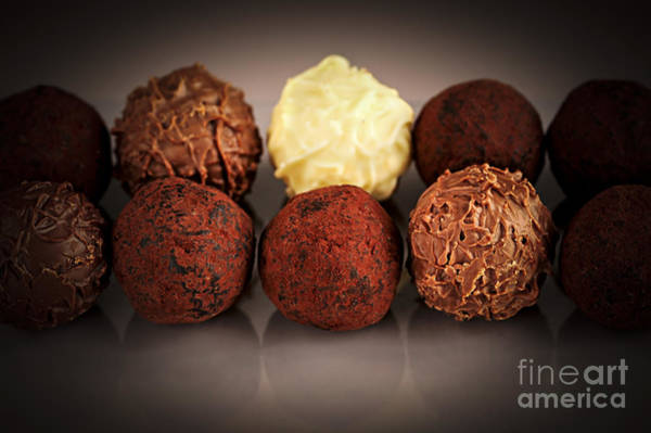 Wall Art - Photograph - Chocolate Truffles by Elena Elisseeva