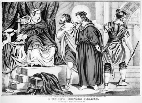 Pontius Pilate Wall Art - Painting - Christ Before Pilate by Granger