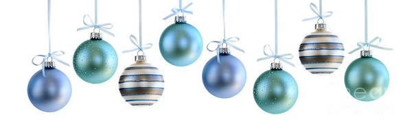 Winter Holiday Photograph - Christmas Ornaments by Elena Elisseeva
