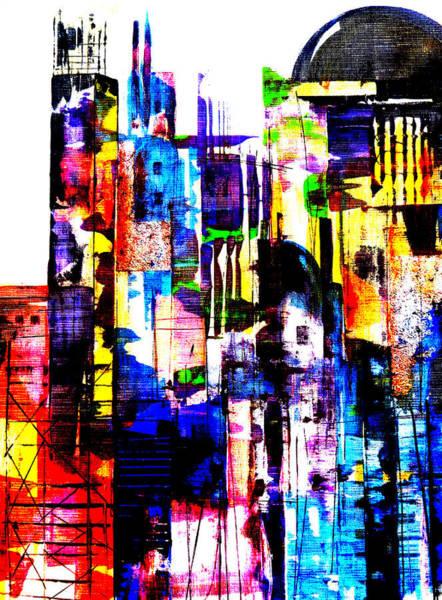 Neighborhood Painting - Cityscape by Katie Black