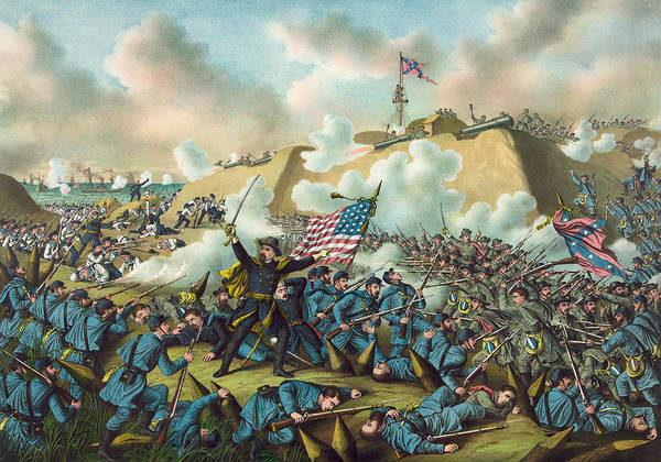 Wall Art - Painting - Civil War Fort Fisher by Granger