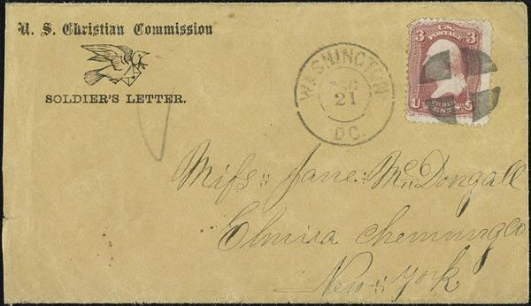 Postmark Painting - Civil War Letter, C1863 by Granger
